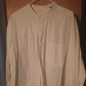 Other - White textured buttonup